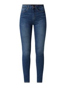 Granatowe jeansy Pieces z bawełny