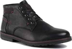 Czarne buty zimowe Lanetti sznurowane