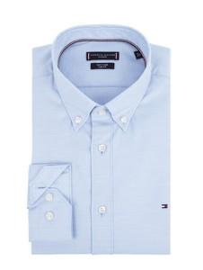 Koszula Tommy Tailored Sf z bawełny z długim rękawem