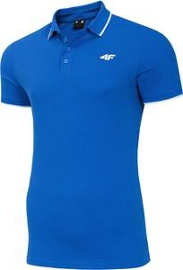 Niebieska koszulka polo 4F z krótkim rękawem