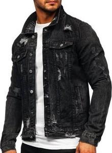 Czarna kurtka Denley z bawełny w stylu casual