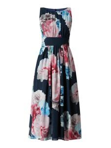 Sukienka Swing z okrągłym dekoltem z szyfonu
