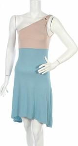 Niebieska sukienka Made For Loving bez rękawów mini