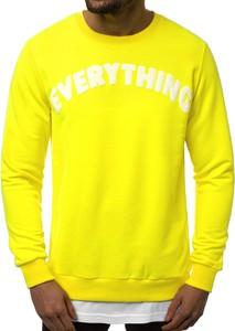 Żółta bluza ozonee.pl w młodzieżowym stylu z bawełny