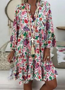 Sukienka Cikelly z dekoltem w kształcie litery v w stylu boho mini