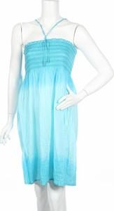 Niebieska sukienka Beach Life mini gorsetowa