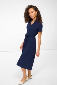 Sukienka ORSAY midi z dekoltem w kształcie litery v z krótkim rękawem
