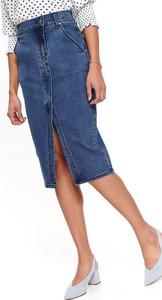 Spódnica Top Secret w młodzieżowym stylu z jeansu
