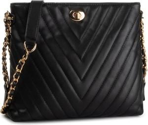 Czarna torebka Jenny Fairy średnia pikowana