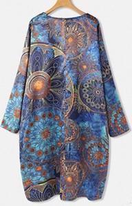 Sukienka Cikelly z okrągłym dekoltem mini z długim rękawem