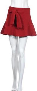 Czerwona spódnica ZARA w stylu casual mini