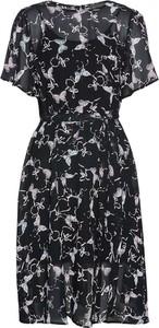 Czarna sukienka bonprix bpc selection z okrągłym dekoltem z krótkim rękawem mini