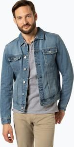 Niebieska kurtka Review w street stylu z jeansu