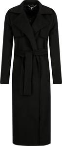 Czarny płaszcz Trussardi Jeans z wełny