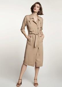 Sukienka Ochnik w stylu casual z długim rękawem z lnu