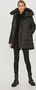 Czarna kurtka Tiffi w stylu casual długa z kapturem