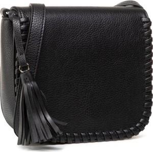 Czarna torebka Jenny Fairy ze skóry na ramię