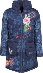 Niebieski płaszcz dziecięcy Desigual