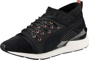 Czarne buty sportowe Puma-select z płaską podeszwą
