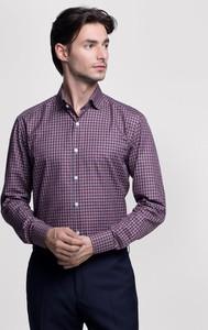 Fioletowa koszula Vistula z długim rękawem w stylu casual