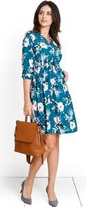 Niebieska sukienka Happymum w stylu casual