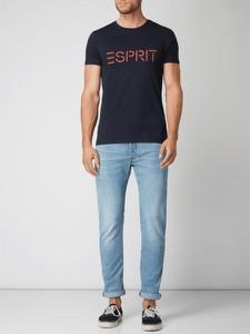 Niebieski t-shirt Esprit z krótkim rękawem z bawełny