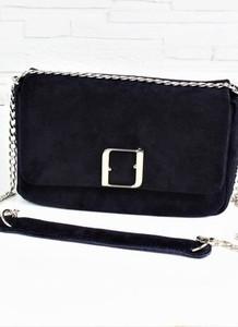 626edb553250c torebka zamszowa czarna - stylowo i modnie z Allani