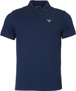 Niebieska koszulka polo Barbour z krótkim rękawem w stylu casual
