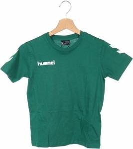 Zielona koszulka dziecięca Hummel z krótkim rękawem