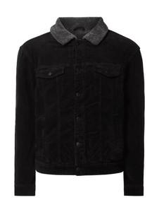 Czarna kurtka Review ze sztruksu w młodzieżowym stylu
