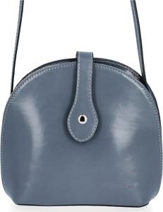 Niebieska torebka VITTORIA GOTTI na ramię średnia ze skóry