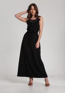 Czarna sukienka Renee maxi bez rękawów