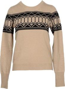 Brązowy sweter Messagerie z wełny w stylu casual