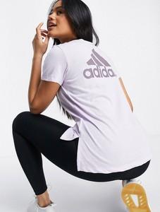 Bluzka Adidas Performance z bawełny z okrągłym dekoltem