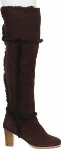 Brązowe kozaki Di Lauro za kolano