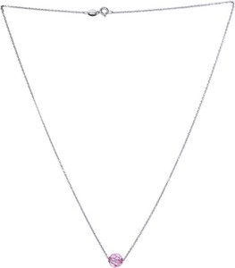 Monarti Srebrny naszyjnik z kryształem Swarovski