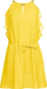 Sukienka bonprix BODYFLIRT trapezowa w stylu casual z dekoltem typu choker