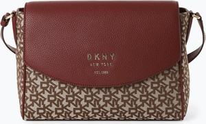 Czerwona torebka DKNY w stylu retro ze skóry
