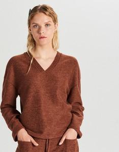 Brązowa bluzka Cropp w młodzieżowym stylu