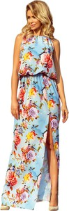 Sukienka NUMOCO w stylu boho z okrągłym dekoltem bez rękawów