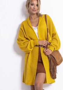Żółty sweter Fobya z wełny