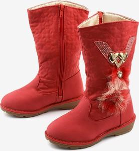 Buty dziecięce zimowe Gemre.com.pl dla dziewczynek na zamek