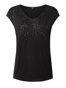 Czarna bluzka Esprit z krótkim rękawem z okrągłym dekoltem