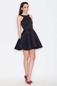 Granatowa sukienka Katrus bez rękawów rozkloszowana mini