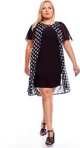 Czarna sukienka Fokus z szyfonu