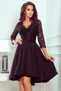 Granatowa sukienka NUMOCO rozkloszowana