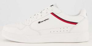 Buty sportowe Champion sznurowane z płaską podeszwą ze skóry ekologicznej