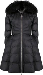 Czarny płaszcz Elisabetta Franchi