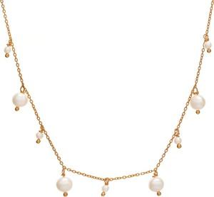 Ania Kruk Choker ARIEL srebrny pozłacany z perłami
