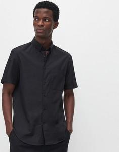 Czarna koszula Reserved z krótkim rękawem